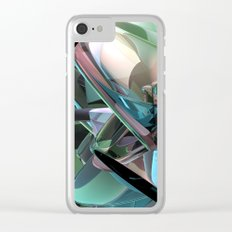 Colorful 3D Reflections Clear iPhone Case
