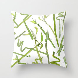 Scattered Bamboos Throw Pillow
