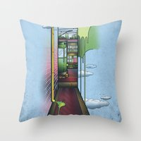 melbourne Throw Pillows featuring Melbourne by Mel Muraca
