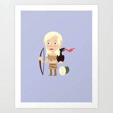 Elven Mother of Dragons Art Print