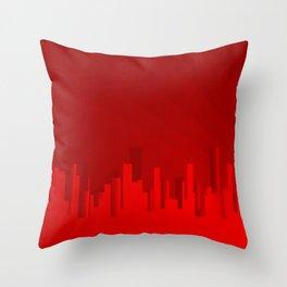 City Redscape Throw Pillow