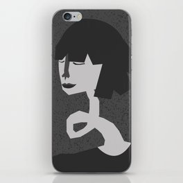 Crinkly neck iPhone Skin