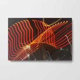 Motion Lights Metal Print