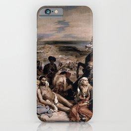 Eugne Delacroix - The Massacre at Chios iPhone Case