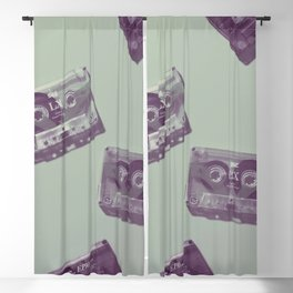 Cassettes in green Blackout Curtain