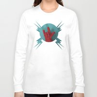 heavy metal Long Sleeve T-shirts featuring Heavy Metal Oven Mitt by John Magnet Bell