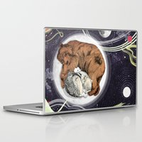 the moon Laptop & iPad Skins featuring Moon by Sandra Dieckmann