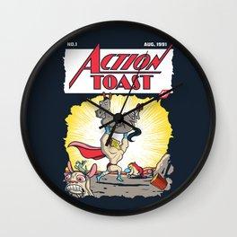 Action Toast Wall Clock