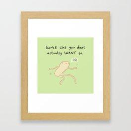 Dance Motivation Framed Art Print