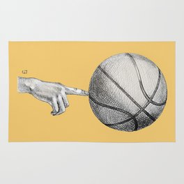 Basketball spin orange Rug