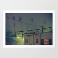 On a Foggy Night  Art Print