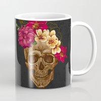 animal skull Mugs featuring Skull by eARTh