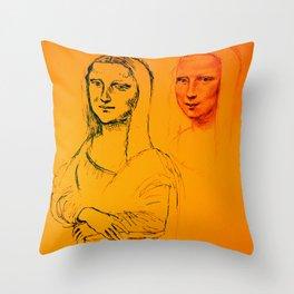 Mona Yellow Throw Pillow