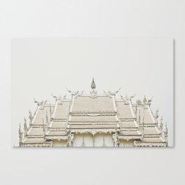 White temple, Thailand Canvas Print