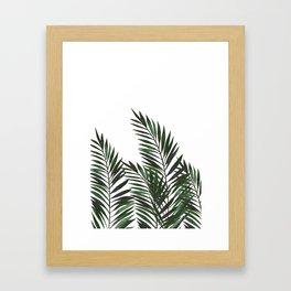 Palm Leaves Green Framed Art Print