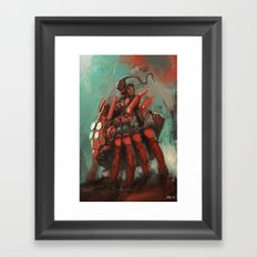 Spider rider Framed Art Print