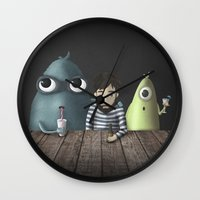 rare Wall Clocks featuring Three rare guys by Ainaragm
