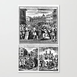 Martyrdome of women by Burning at the Stake.  Canvas Print