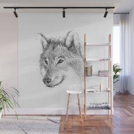 Wild Wolf Wall Mural