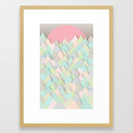 Forest Pastel Framed Art Print