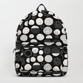 black and white funky dots Backpack