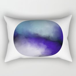 Insight - Abstract black and blue painting Rectangular Pillow
