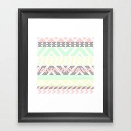 chevron pattern. Framed Art Print
