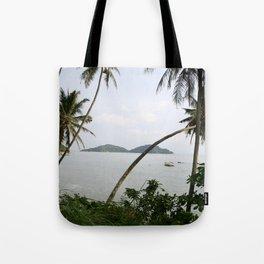 Tropical sea view Tote Bag