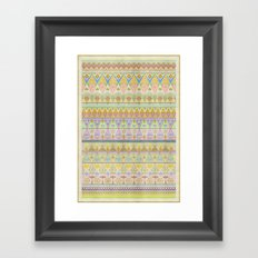 TROPIC THUNDER / PATTERN SERIES 004 Framed Art Print