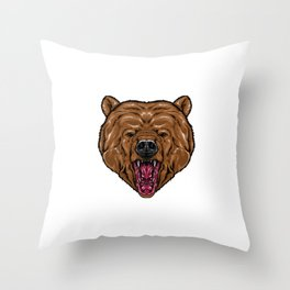 bear for people who like sensitive savages  Throw Pillow