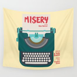 Misery, Horror, Movie Illustration, Stephen King, Kathy Bates, Rob Reiner, Classic book, cover Wall Tapestry