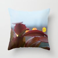 cacti Throw Pillows featuring Cacti by Vanessa Antonina