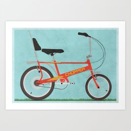 Chopper Bike Art Print