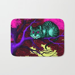 The glowing Cheshire Cat Bath Mat