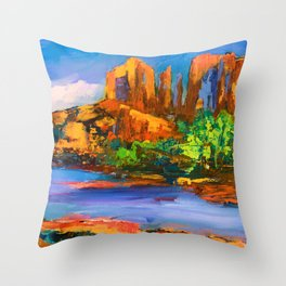 Cathedral Rock Afternoon Throw Pillow