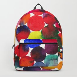 Colored Circles in watercolor Backpack
