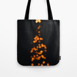 Golden Blurry Christmas Tree (Color) Tote Bag