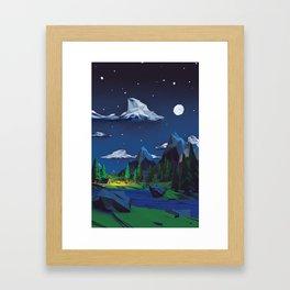 A simple night Framed Art Print