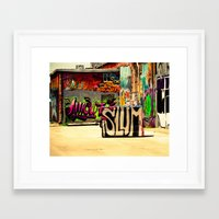 grafitti Framed Art Prints featuring Slum Grafitti by Squint Photography