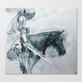 Knight : Early Concept Sketch (KIN film) Canvas Print