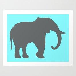 Simplistic Elephant Art Print