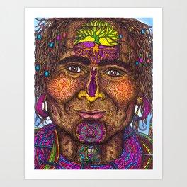 Wisdom Keeper Color #40 (Resolve) Art Print