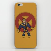 cyclops iPhone & iPod Skins featuring Cyclops by Twisted Dredz