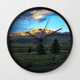 Frosted Bristol Head Peak Wall Clock