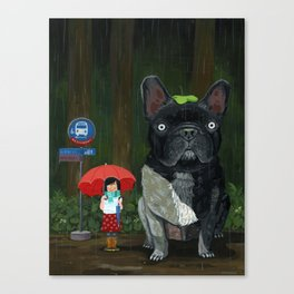 """My French Bull Chubu""  Canvas Print"