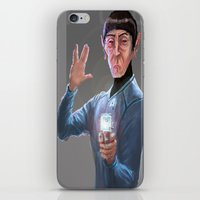 spock iPhone & iPod Skins featuring Spock by Matt Hancox