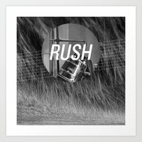 rush Art Prints featuring Rush by Santiago Merino
