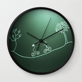 bike ride for Dale and Diane Wall Clock