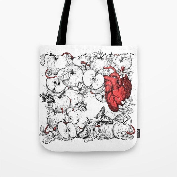 coronary apples Tote Bag