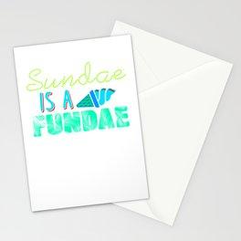 Sundae is a Fundae 2 Stationery Cards